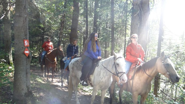 Horseback riding at Horse Country Campground!  Over 50 kms of trails along the Ottawa River.