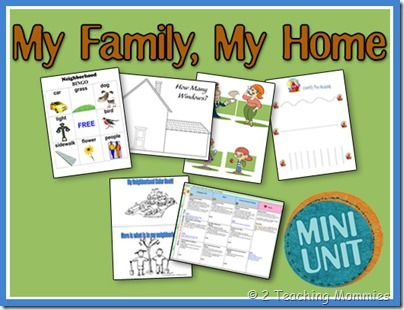 All About Me My Family Home ThemeMy FamilyPreschool