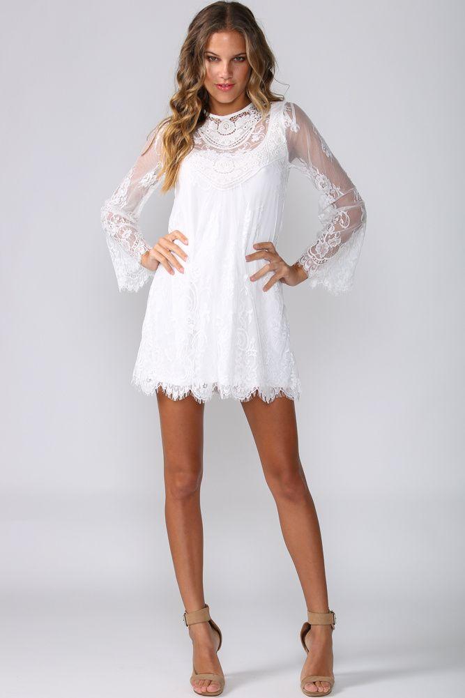 White bohemian style dress