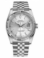 Rolex Datejust 36mm Acier Argent Cadran Jubilee Bracelet 116234 SSJ