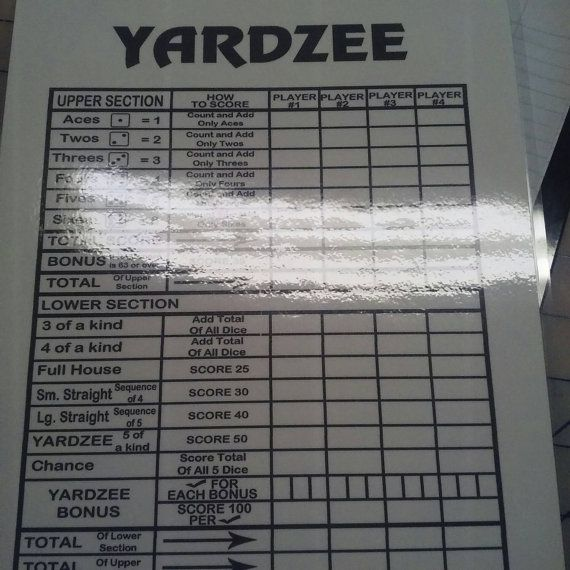 The 25+ best Yahtzee score card ideas on Pinterest Yard yahtzee - sample cricket score sheet