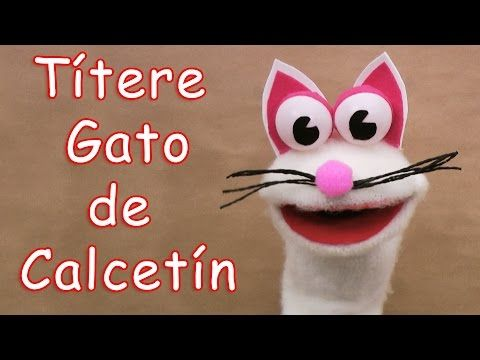 Títere gato de calcetín - Manualidades para todos - Cat sock puppet - YouTube