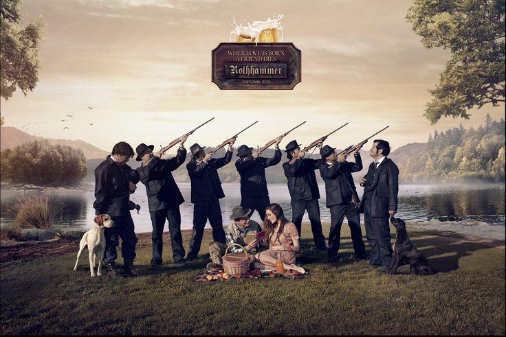 Rothhammer Beer : Duck Hunter #advertising #print #GoldLion
