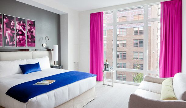 Gansevoort Park Avenue: Superior Rooms start at 330 square feet and have floor-to-ceiling windows.