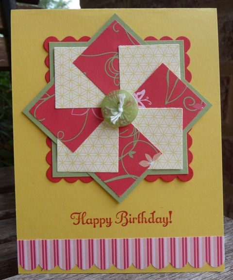 Pinwheel Card - like this idea ... would use a different color combo