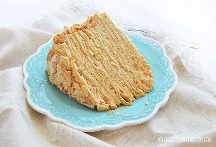 торт наполеон с вареной сгущенкой