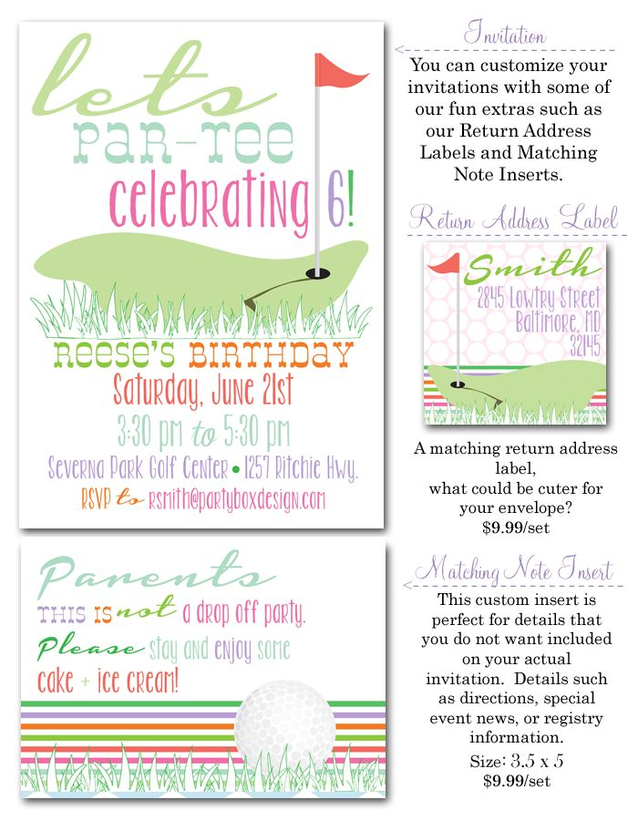 57 best Mini Golf Party images – Mini Golf Birthday Party Invitations
