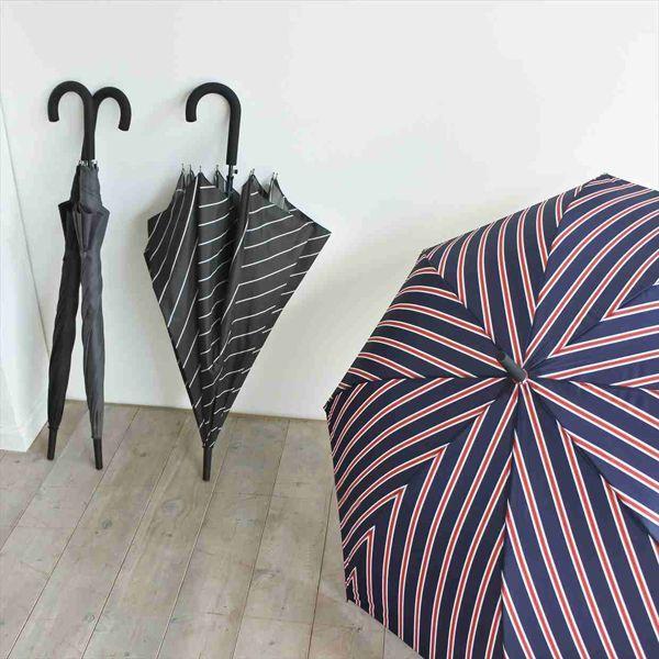 耐風雨傘★65cmのBIGサイズ(ストライプ柄)