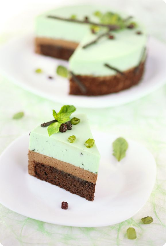 Шоколадно-мятный торт-мусс / Torta mousse de chocolate e menta
