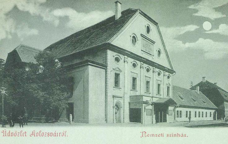 1821-ben épült régi Nemzeti Szinház a Farkas utcában,1900.  Old National Theatre is the Farkas street built in 1821.