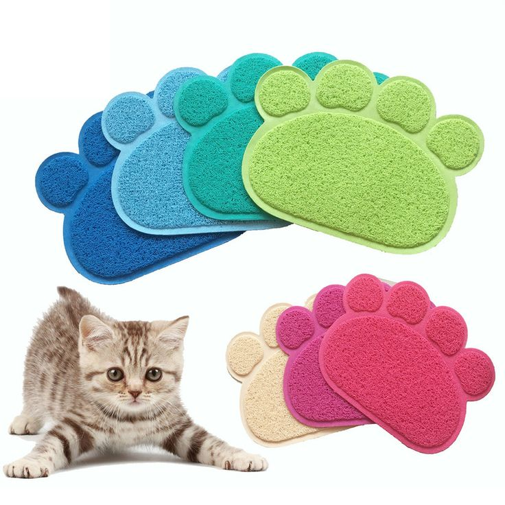 cute paw shape dog placemat puppy pet cat dish bowl mats food water mat wipe sn