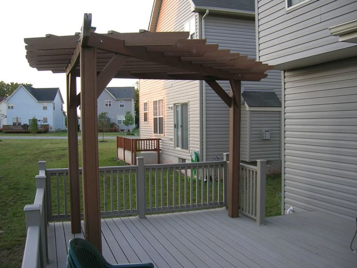21 best images about decks on pinterest decks outdoor for How to build a corner pergola