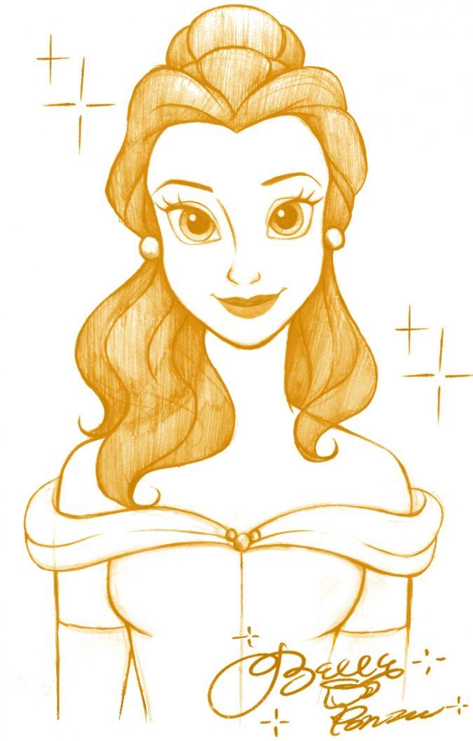 Одноцветные портреты Дисней Принцесс                                                                                                                                                                                 More