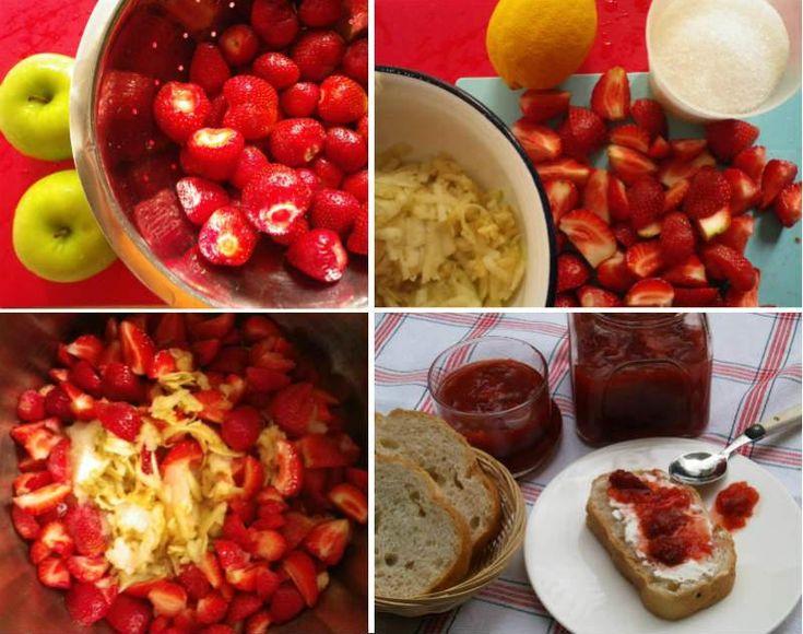 Yeşil Elmalı Çilek Reçeli                        -  Fügen Büke #yemekmutfak