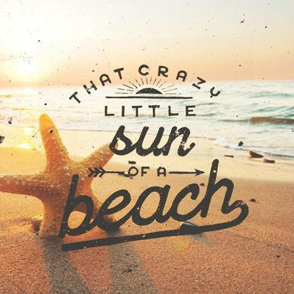 We really like this piece of typography. The entire piece ties in together to give of warm, sunny vibes!
