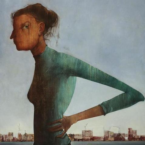 Mikuláš Medek, Žena a město (Woman and City), 1953