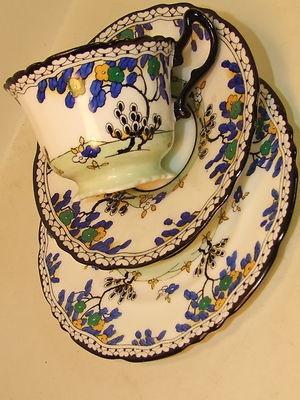 Art Deco Royal Doulton Bone China Tea Trio c1930 rare   eBay