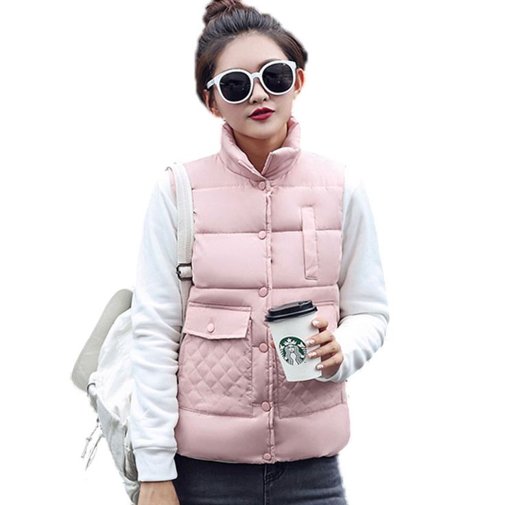 2016 Women Autumn/Winter Fashion Waistcoat Warm Down Cotton Wool Collar Vest Female Plus Size Jacket Outerwear aliexpress.com