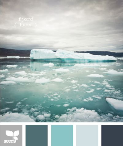 Truly inspirational colour boards, this one is fjord hues, the photographs they use on design seeds are well worth a look.