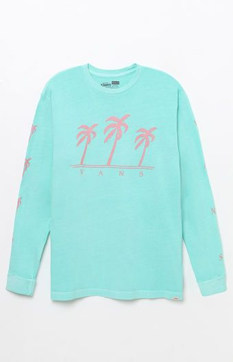 651b78ce6456ec Rock a retro surf look on your deck with the Vans Landed Long Sleeve T-Shirt.  It features a classic crew neck