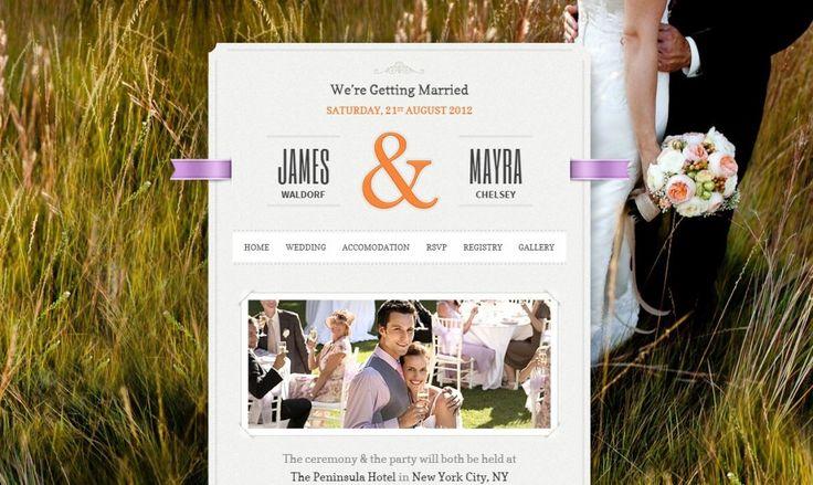 Wedding WordPress Theme Just Married