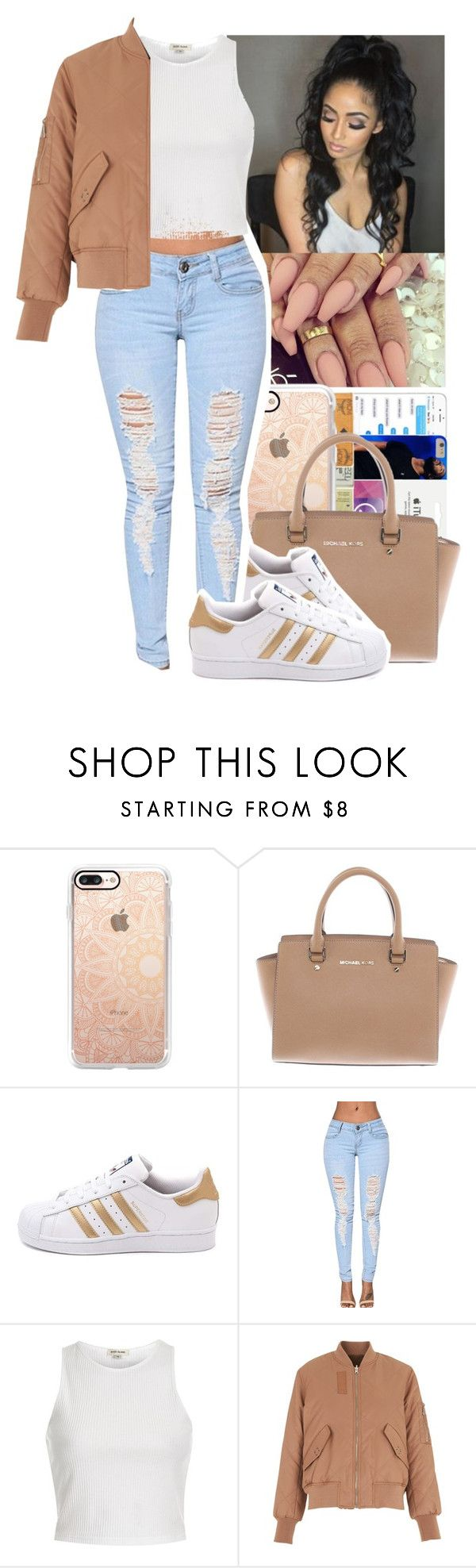 """The Weeknd - The Knowing"" by jasmine1164 ❤ liked on Polyvore featuring Casetify, Michael Kors, adidas, River Island and Whistles"