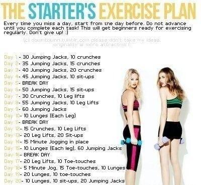 Starter's exercise plan!