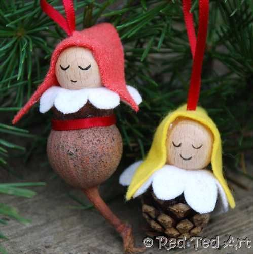 How to... make Christmas Elves (from Pine Cones or Gumnuts)