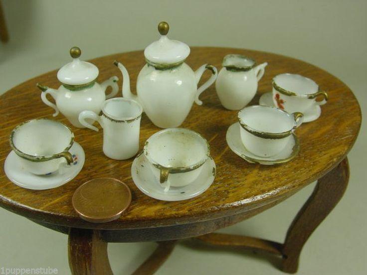 """Z1370/ altes Puppenstuben Kaffeeservice """"Lauscha Glas"""" ca.1920   eBay"""