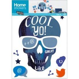 Muursticker Skull Cool Yo!