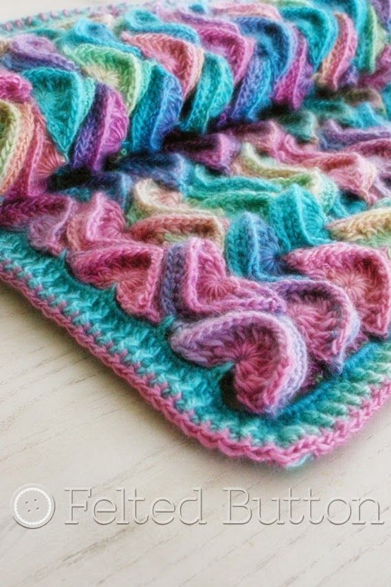 Sea Song Blanket Crochet Pattern by Felted Button