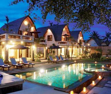 Bali -  Gili Trawangan, a tiny island near Lombok dotted with countless waterside cafés.
