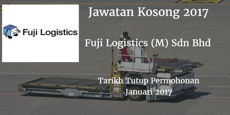 Jawatan Kosong Fuji Logistics (M) Sdn Bhd Januari 2017  Fuji Logistics (M) Sdn Bhd mencari calon-calon yang sesuai untuk mengisi kekosongan jawatan Fuji Logistics (M) Sdn Bhd terkini 2017.  Jawatan Kosong Fuji Logistics (M) Sdn Bhd Januari 2017  Warganegara Malaysia yang berminat bekerja di Fuji Logistics (M) Sdn Bhd dan berkelayakan dipelawa untuk memohon sekarang juga. Jawatan Kosong Fuji Logistics (M) Sdn Bhd Terkini Januari 2017: Location: Pelabuhan Tanjung Pelepas Johor Position…