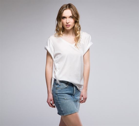WTS348 - Cycle #cycle #cyclejeans #spring2015 #springsummer #spring #summer #collection #stripes #women #apparel#blouse #fashion #style #white #top