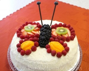 Butterfly birthday cake - Kiddie Foodies