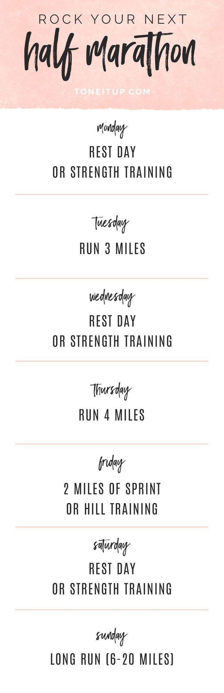 Rock your next Half Marathon or Marathon with our Training Tips!! Tone It Up!