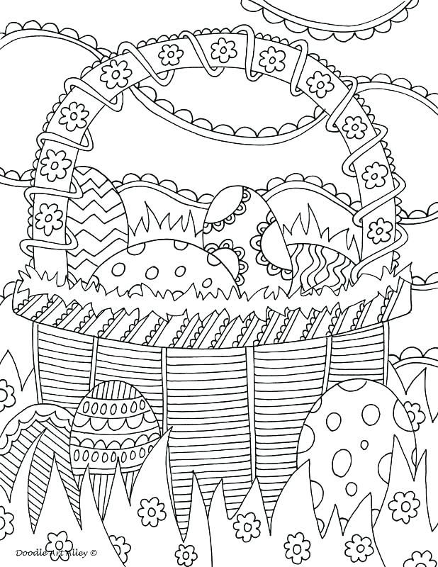photograph about Easter Printouts titled Easter Basket Coloring Internet pages Illustrations or photos Towards Print Website page