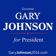 Gary Johnson 2016 Square logo visit garyjohnson2016.com