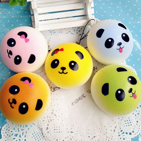 My Squishy Bun Collection : THREE mini kawaii squishy panda bread bun cute cell phone strap collection lot Sofie ...