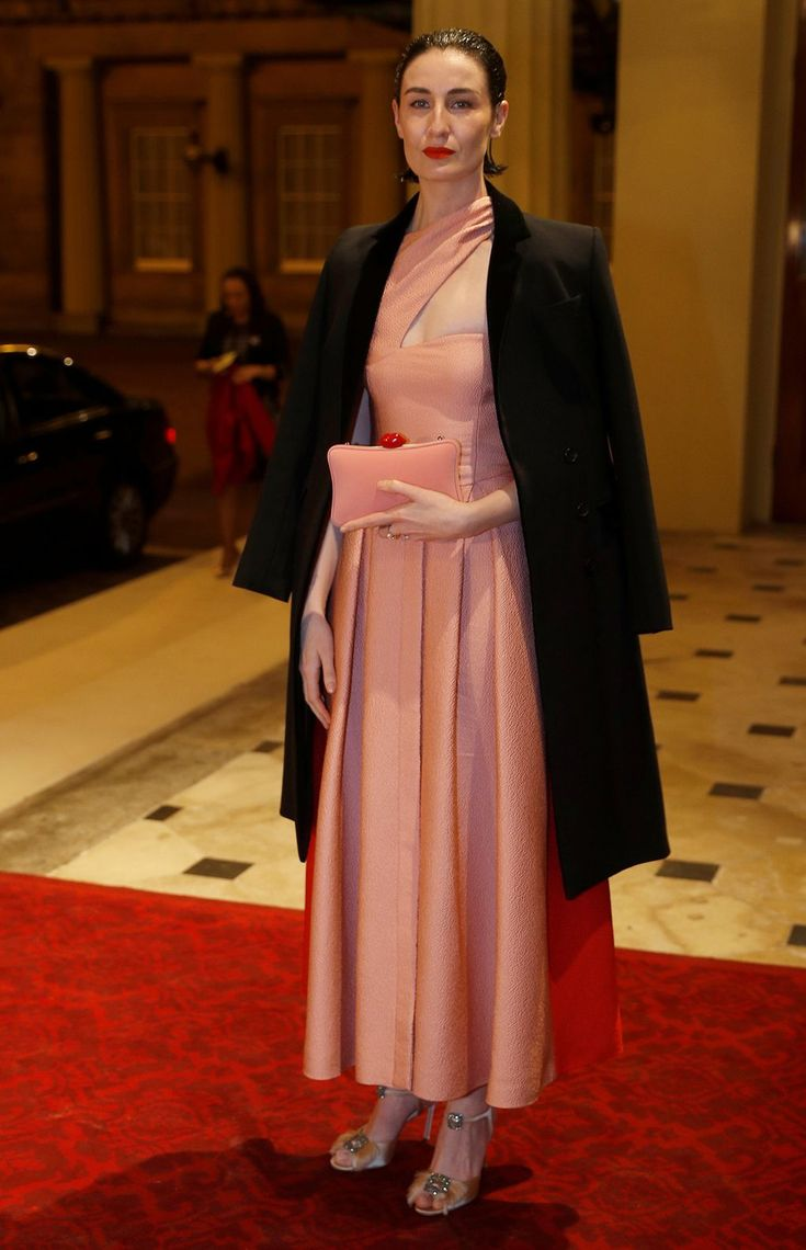 Erin O'Connor - Creation of the Commonwealth Fashion Exchange initiative at Buckingham Palace, London – February 19 2018