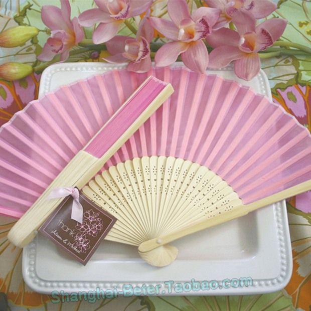 Summer Silk Hand Fan Bachelorette Favors HH054 Bridal Crafts http://detail.1688.com/offer/534065805355.html