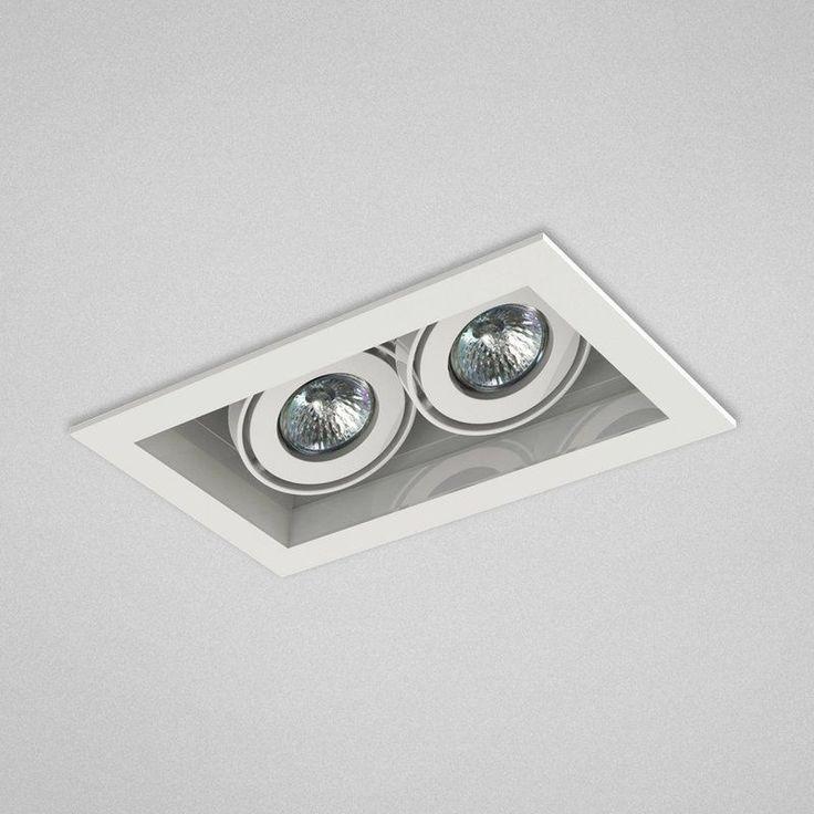 Eurofase Lighting TE112 MR16 Directional 2 Light Recessed Trim White / White Recessed Lights Recessed Trims Baffle Trims