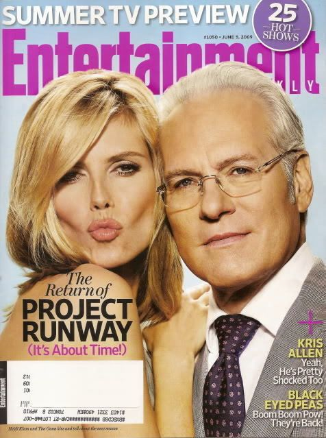 Project Runway Entertainment Weekly Jun 2009 Heidi Klum Tim Gunn Kris Allen