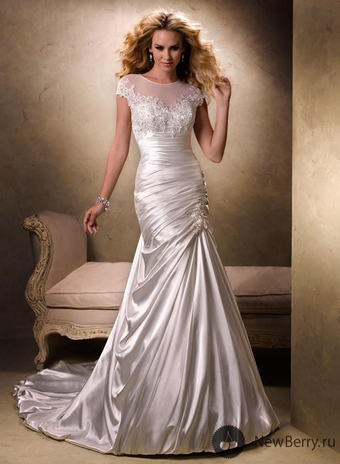 #wedding #dress #sleeves #lace #silk