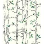 Brothers and Sisters V Knock On Wood Wallpaper, White/Black/Grey/Green