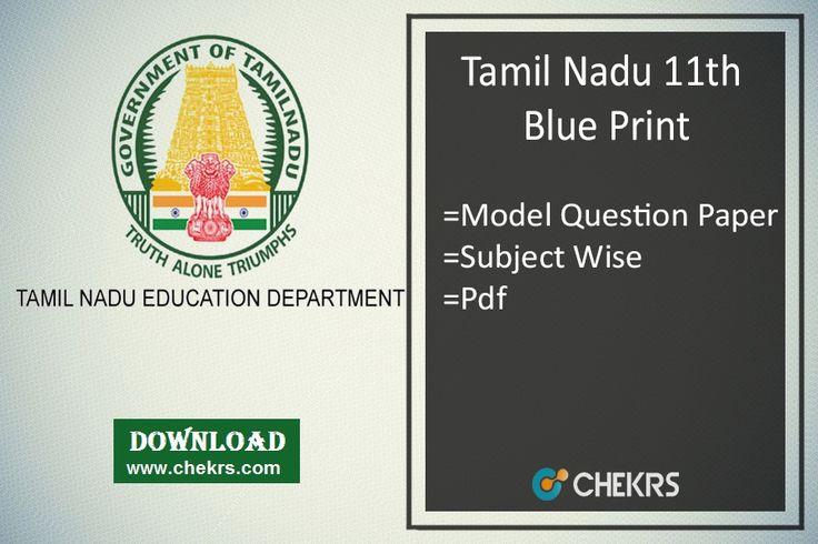 Tamilnadu 11th Blueprint 2018 TN Plus One Model Question Paper