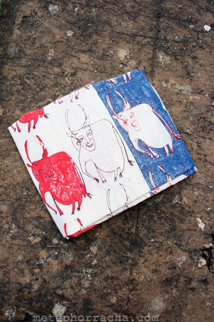 #hand-block printed #homespun and #handwoven #khadi #stole .