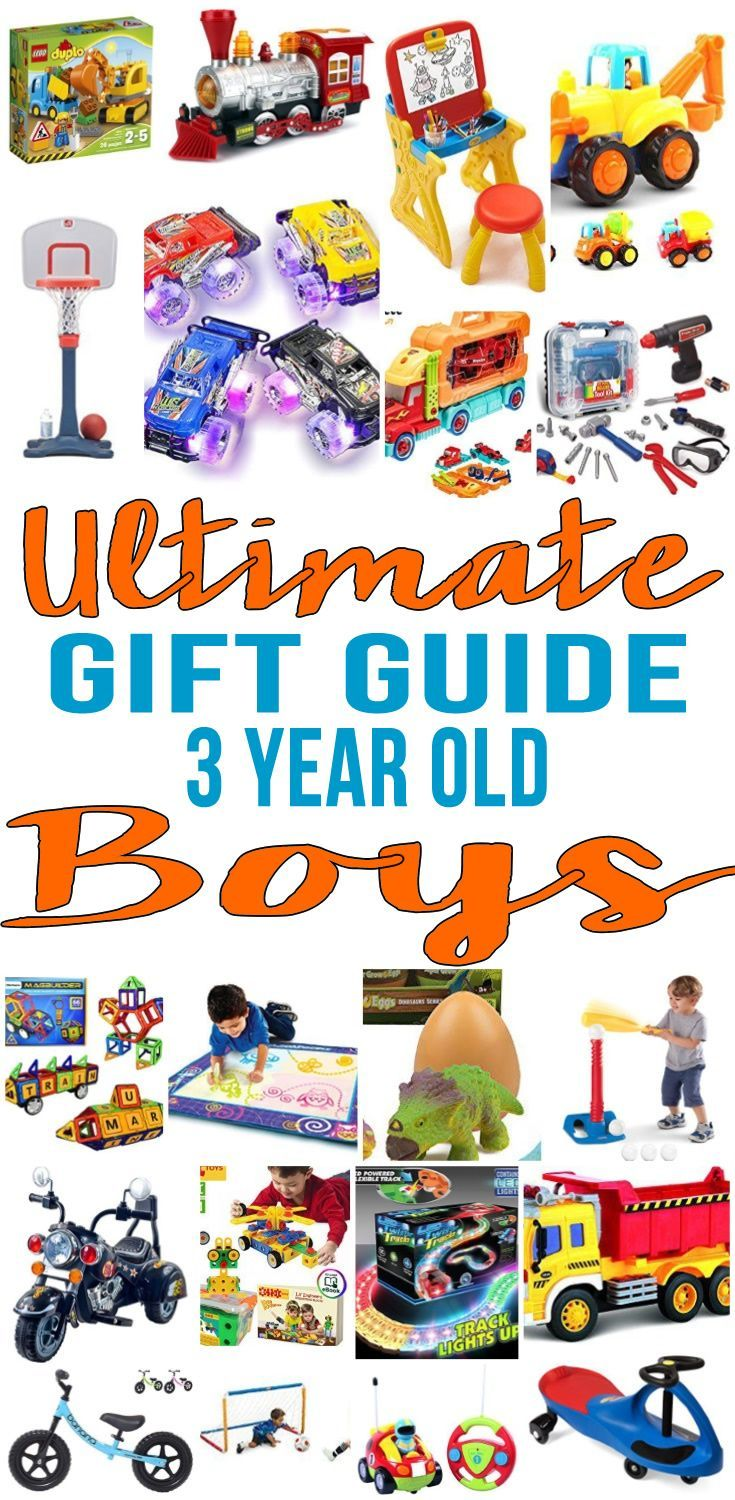 BEST Gifts 3 Year Old Boys! The ultimate gift guide for gifts for 3 year old boys.  Get the best ideas for 3rd (third) birthday gifts or Christmas gifts for 3 year old boys. Kids & children will love these fun products. Top  toys for boys as well as non toys!