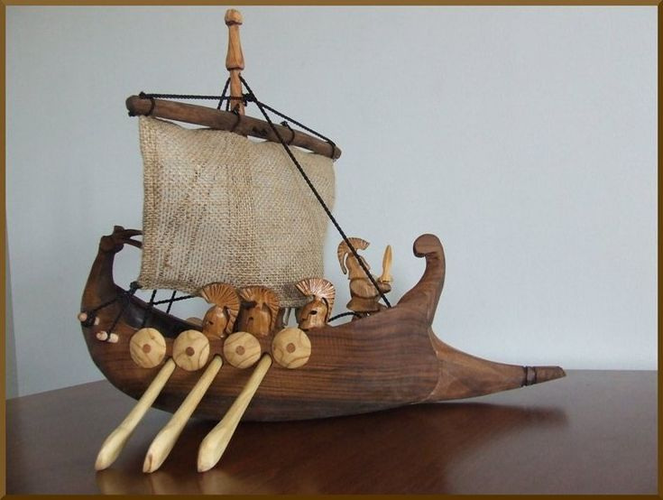 how to make a viking longboat out of wood