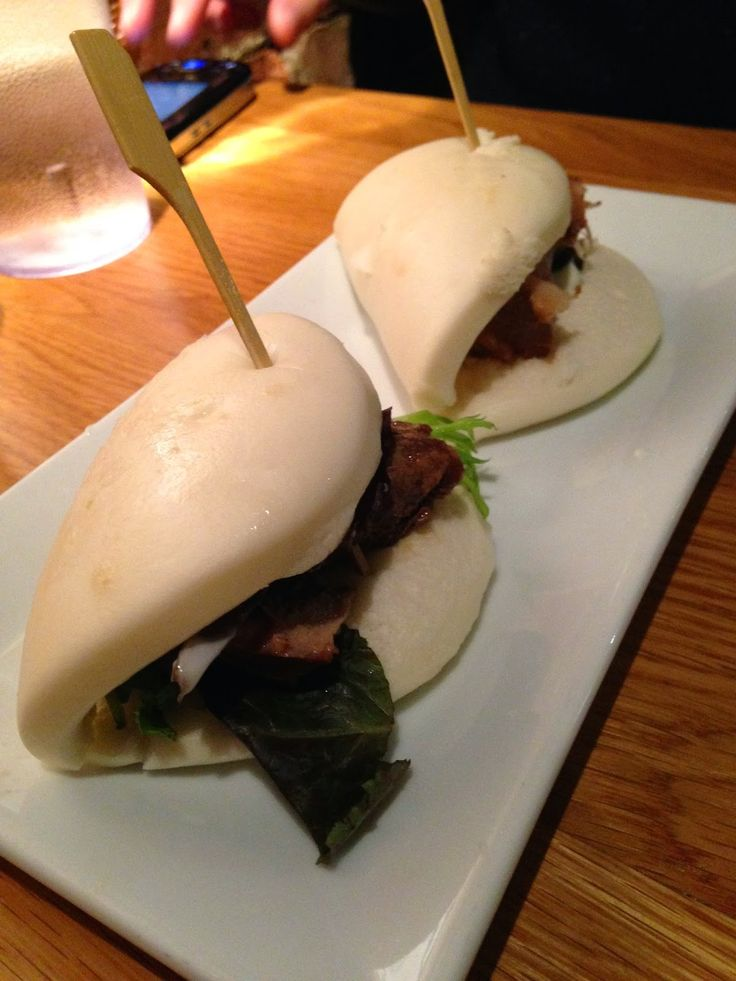 Pork buns from Totto Ramen in NYC
